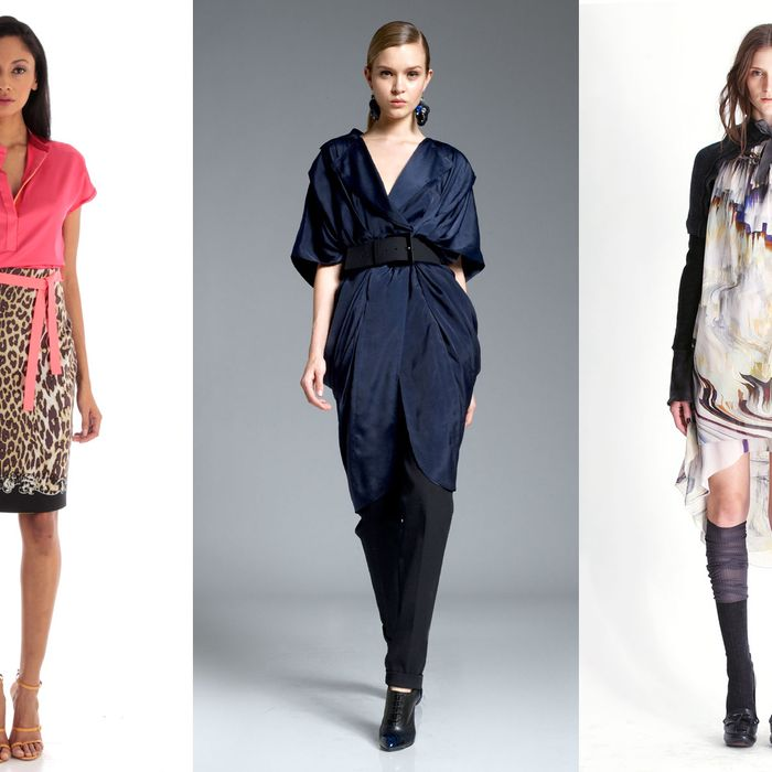 Pre-Fall looks from Elie Tahari, Donna Karan, and Vera Wang.