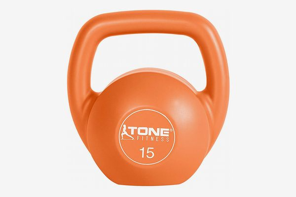 Tone Fitness Vinyl Coated Cement Filled Kettlebell Weights