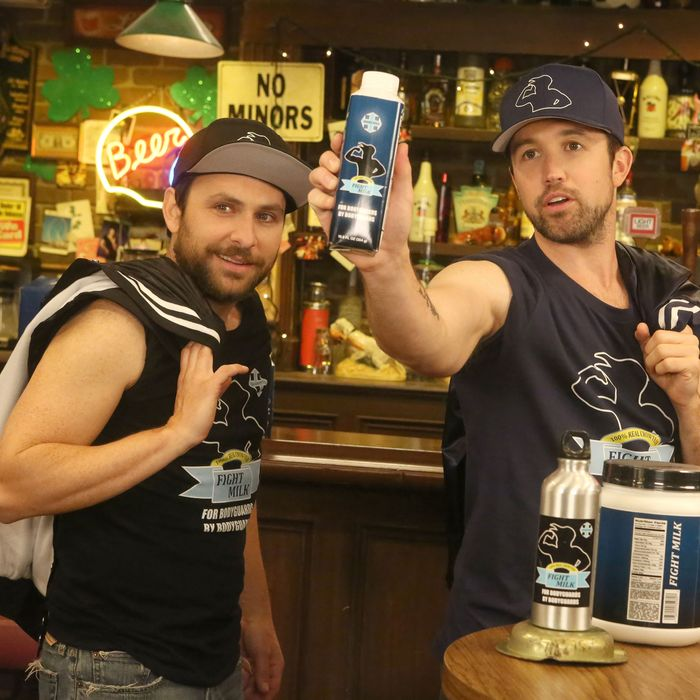 "IT'S ALWAYS SUNNY IN PHILADELPHIA -- ""Wolf Cola: A Public Relations Nightmare"" – Season 12, Episode 4 (Airs January 25, 10:00 pm e/p) Pictured: Charlie Day as Charlie, Rob McElhenney as Mac. CR: Patrick McElhenney/FXX"