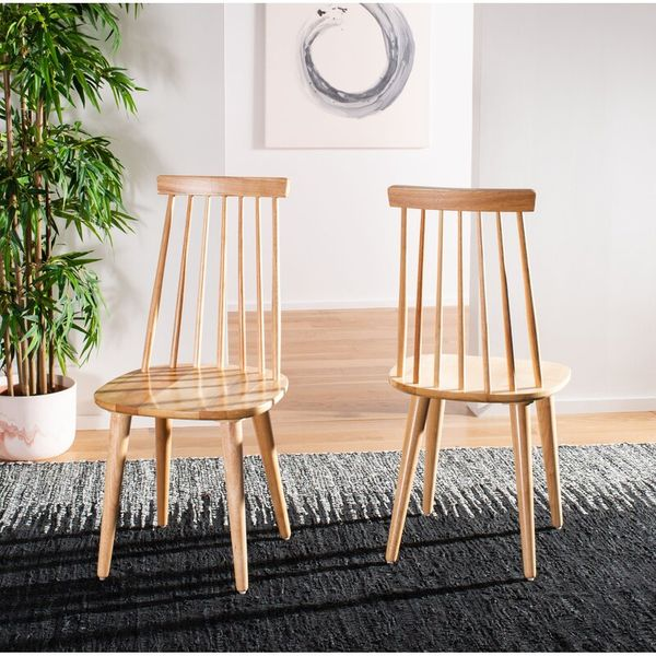 Hashtag Home Spindle Slat Back Side Chair (Set of Two)