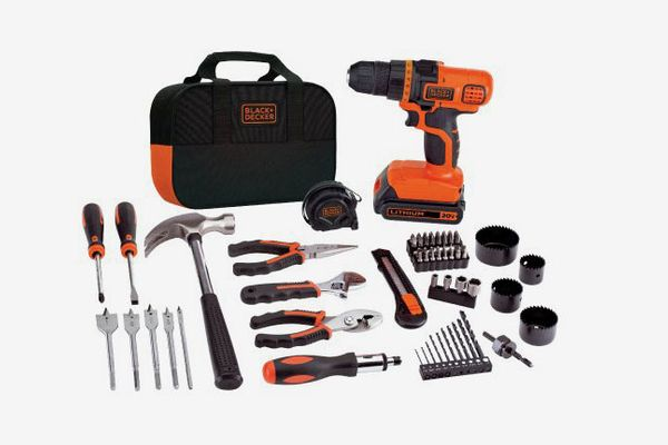 BLACK+DECKER 20V MAX Drill & Home Tool Kit, 68-Piece