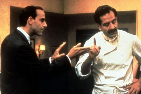 Stanley Tucci and Tony Shaloub in Big Night (1996).