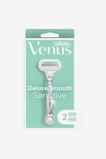 Venus Deluxe Smooth Sensitive Women's Razor + 2 Razor Blade Refills