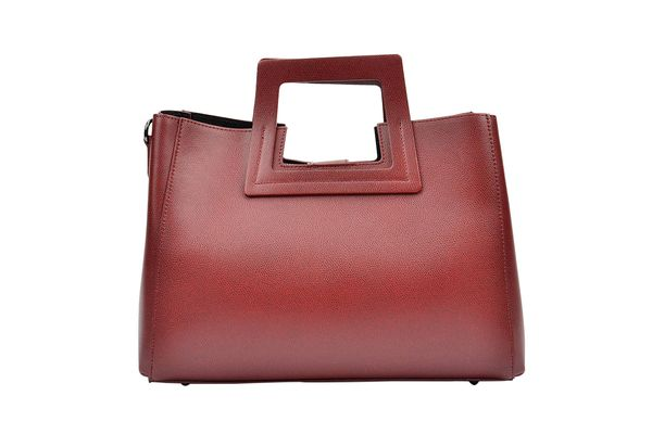 Renata Corsi Wine Square-Handle Leather Tote