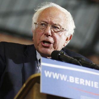 TOPSHOT-US-Vote-Democrats-Sanders
