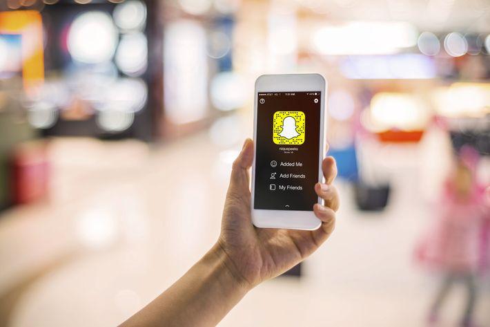 Snapchat's home screen.