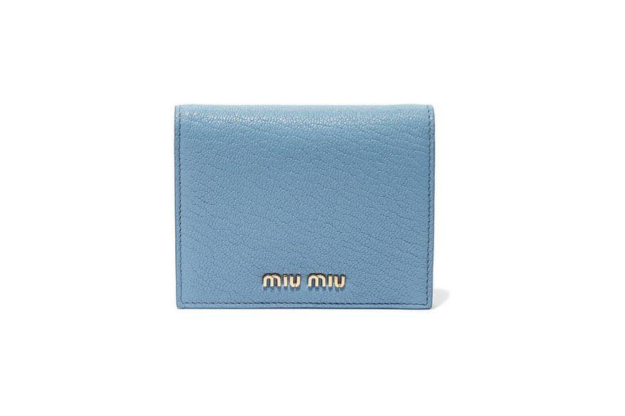 MIU MIU Textured-leather wallet
