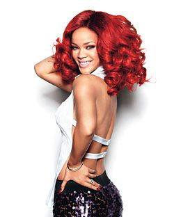 Rihanna, shot for <em>Glamour</em>'s September issue.