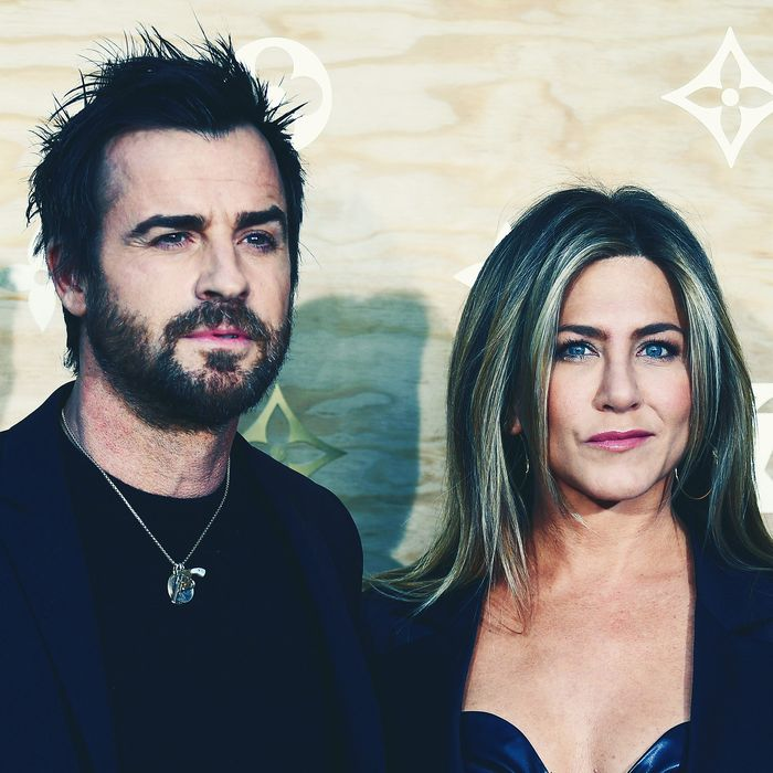 Justin Theroux And Jennifer Aniston Photo Gabriel Bouys Afp Getty Images