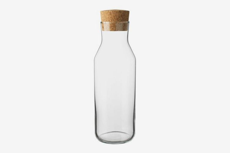 Ikea 365 Clear Glass Carafe With Cork Stopper, (34 Oz)