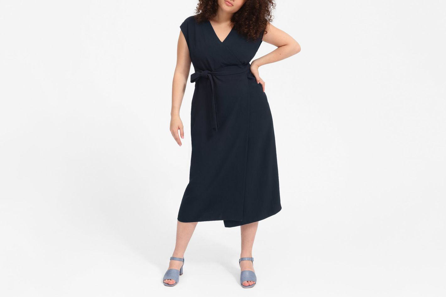 4b326313106 Everlane Japanese GoWeave Short-Sleeve Wrap Dress. ""