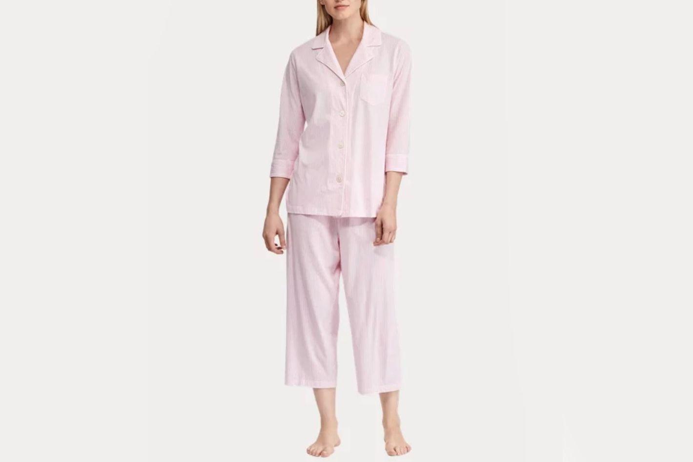 Ralph Lauren Cotton Capri Sleep Set