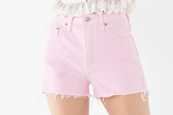 Levi's 501 High-Rise Denim Short, Light Pink