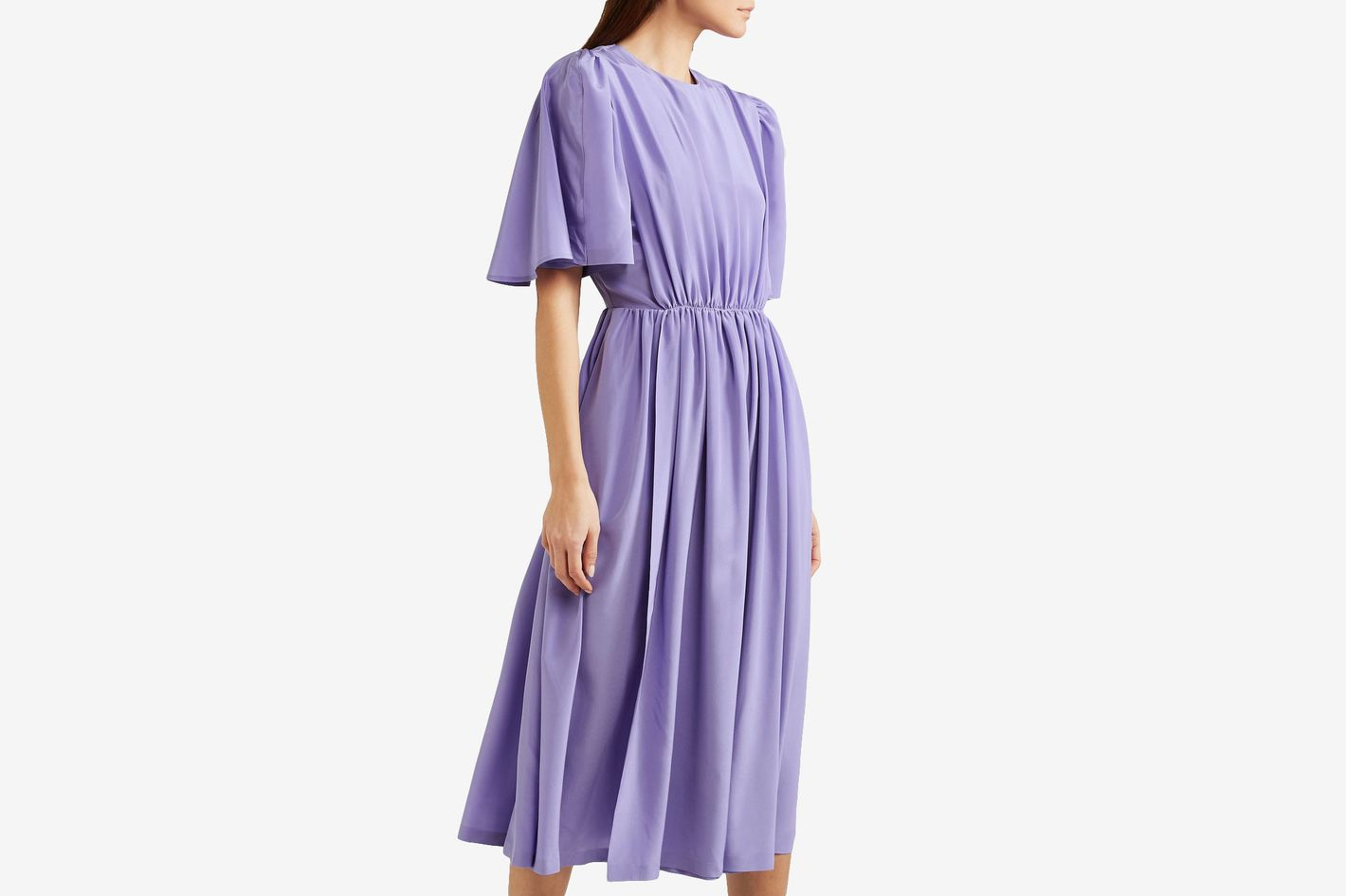 Pushbutton Midi Dress