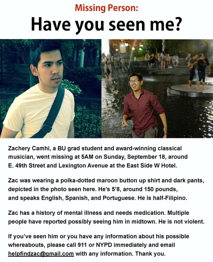 Boston Music Student With Bipolar Goes Missing In NYC  Missing People Posters