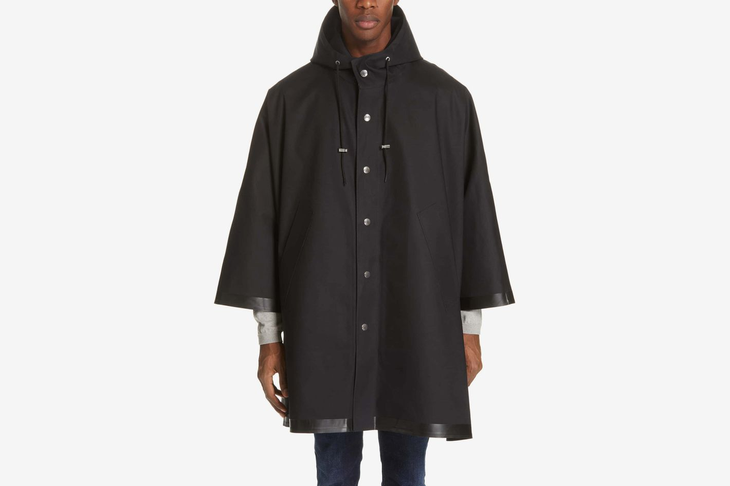 Mackintosh Gents Bonded Cotton Hooded Poncho