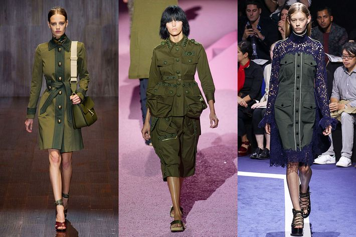 Army Green Has Been All Over The Spring Runways