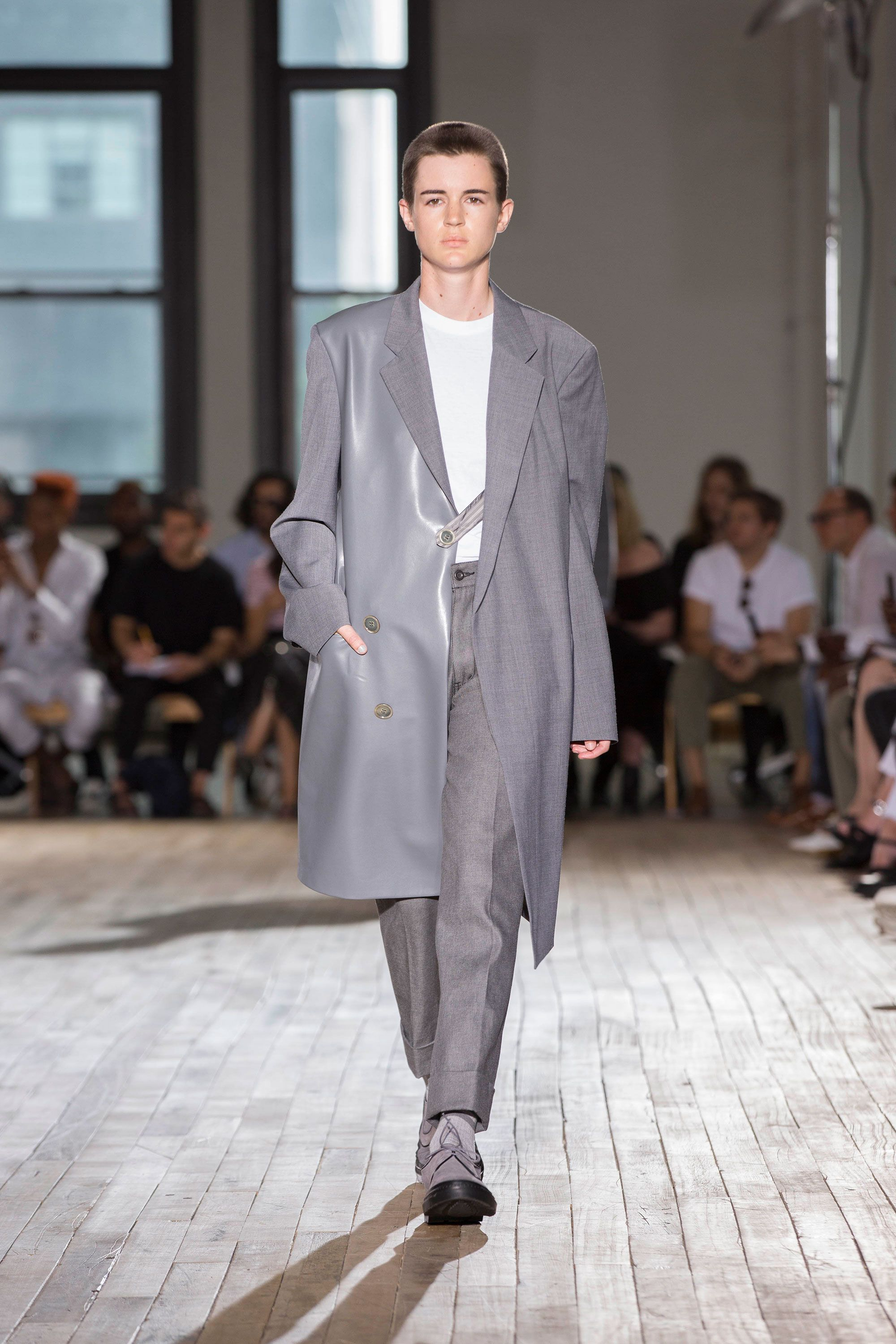 Kyle Mccoy Walked In A New York Mens Fashion Week Show