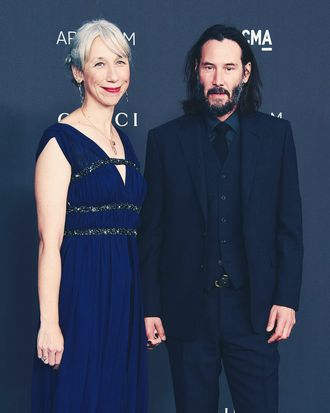 Alexandra Grant and Keanu Reeves.