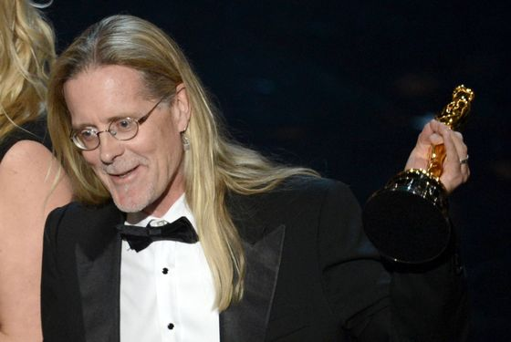 "Sound editor Per Hallberg accepts the Best Sound Editing award for 'Skyfall"" onstage during the Oscars held at the Dolby Theatre on February 24, 2013 in Hollywood, California."
