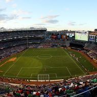 A general view of the game between Spain and Ireland during an International friendly soccer match at Yankee Stadium on June 11, 2013 in the Bronx borough of New York City.