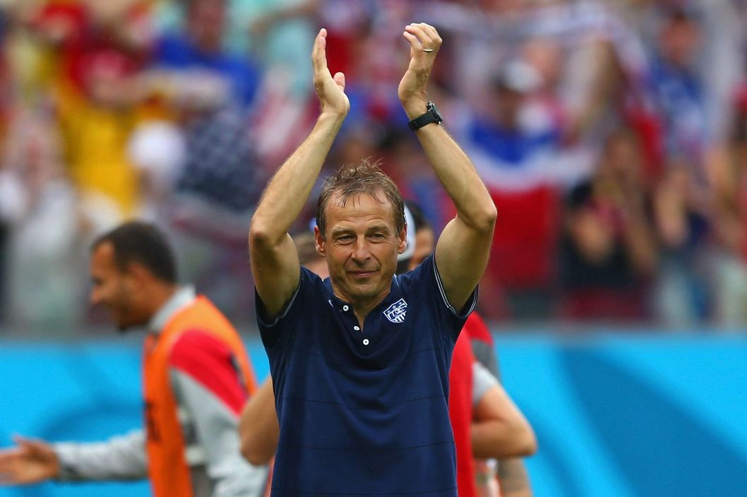 Jurgen Klinsmann, after the game.