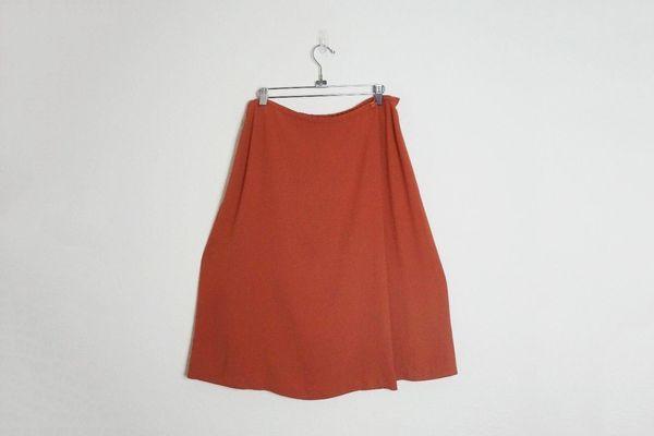 Eileen Fisher women's crepe silk blend A-line skirt