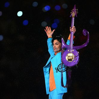 MIAMI GARDENS, FL - FEBRUARY 04: Prince performs during the