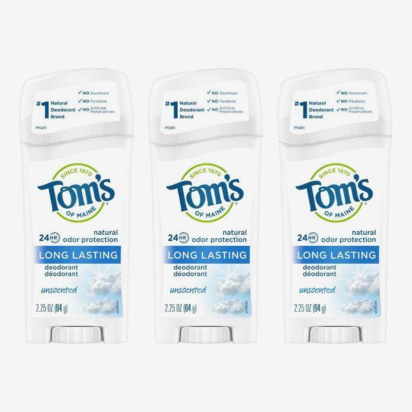 Tom's of Maine Long-Lasting Natural Aluminum-Free Deodorant, Unscented (3-Pack)