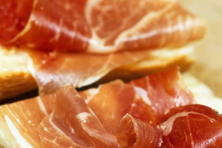 Jamon Iberico is Spanish, but it's on Le Philosophe's French menu.