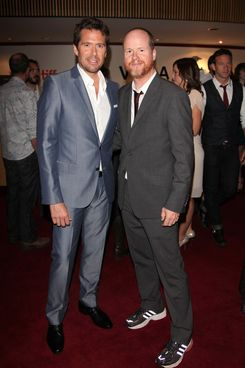 "Actor Alexis Denisof (L) and director Joss Whedon attends the ""Much Ado About Nothing"" premiere during the 2012 Toronto International Film Festival at The Elgin Theatre on September 8, 2012 in Toronto"