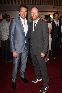 "TORONTO, ON - SEPTEMBER 08:  Actor Alexis Denisof (L) and director Joss Whedon attends the ""Much Ado About Nothing"" premiere during the 2012 Toronto International Film Festival at The Elgin Theatre on September 8, 2012 in Toro  (Photo by Sarjoun Faour Photography/Getty Images)"