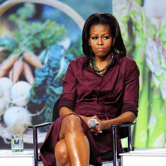 First Lady of the United States Michelle Obama attends WebMD town hall discussion at YMCA on February 10, 2012 in Homestead, Florida.