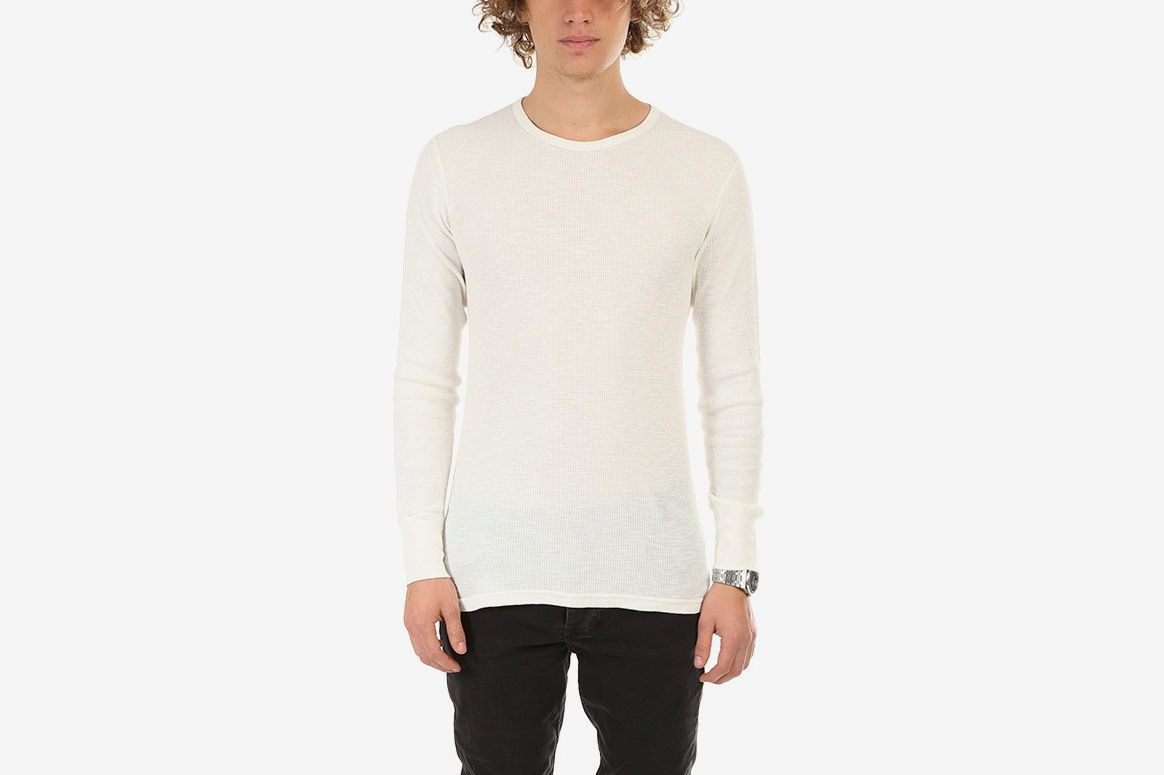 Velva Sheen Slub Thermal, White
