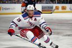 UNIONDALE, NY - OCTOBER 15: Brad Richards #19 of the New York Rangers skates against the New York Islanders at the Nassau Veterans Memorial Coliseum on October 15, 2011 in Uniondale, New York. The Islanders defeated the Rangers 4-2. (Photo by Bruce Bennett/Getty Images)