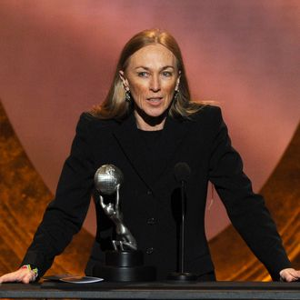 LOS ANGELES, CA - FEBRUARY 17: Writer Ann Peacock speaks onstage at the 43rd NAACP Image Awards Pre-Telecast held at The Shrine Auditorium on February 17, 2012 in Los Angeles, California. (Photo by Kevin Winter/Getty Images for NAACP Image Awards)