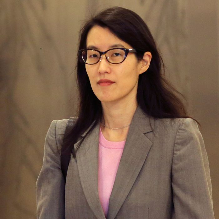 Ellen Pao walks to a courtroom in San Francisco Superior Court in San Francisco, California March 2, 2015. Pao, a former partner at prominent Silicon Valley venture capital firm Kleiner Perkins Caufield & Byers, is seeking $16 million for discrimination and retaliation in a lawsuit against the firm, a Kleiner attorney said earlier this month. Kleiner has denied the accusations of discrimination and retaliation, along with accusations that it did not take reasonable steps to prevent discrimination. REUTERS/Robert Galbraith (UNITED STATES - Tags: BUSINESS SCIENCE TECHNOLOGY LAW) --- Image by ? ROBERT GALBRAITH/Reuters/Corbis