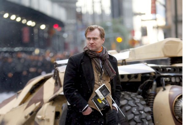"NEW YORK, NY - NOVEMBER 06:  Chris Nolan directing""Batman"" on the streets of Manhattan on November 6, 2011 in New York City.  (Photo by Aby Baker/Getty Images)"