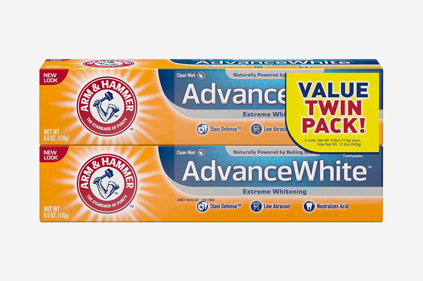 Arm & Hammer Advance White Extreme Whitening Toothpaste, 6 oz Twin Pack