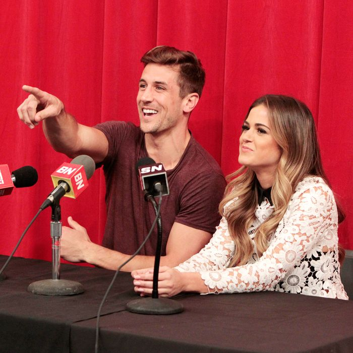 JoJo Fletcher and Jordan Rodgers on The Bachelorette