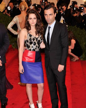 Kristen Stewart and Nicolas Ghesquiere.