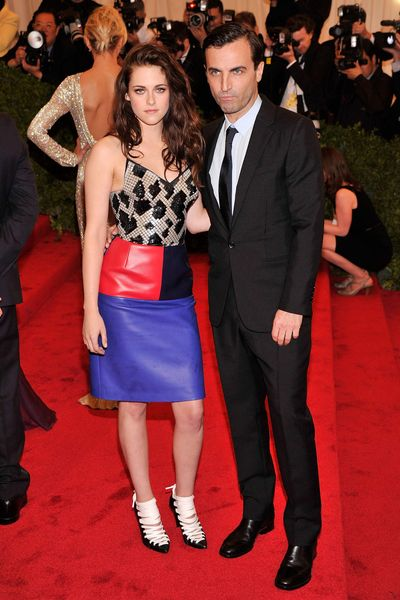 NEW YORK, NY - MAY 07:  Actress Kristen Stewart and designer Nicolas Ghesquiere attend the