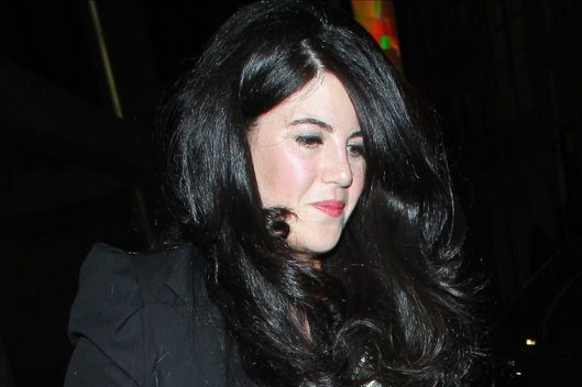LONDON, UNITED KINGDOM - MARCH 19: Monica Lewinsky at the Downtown Mayfair restaurant for Heather Kerzner's birthday celebration on March 19, 2013 in London, England. (Photo by Mark Robert Milan/FilmMagic)