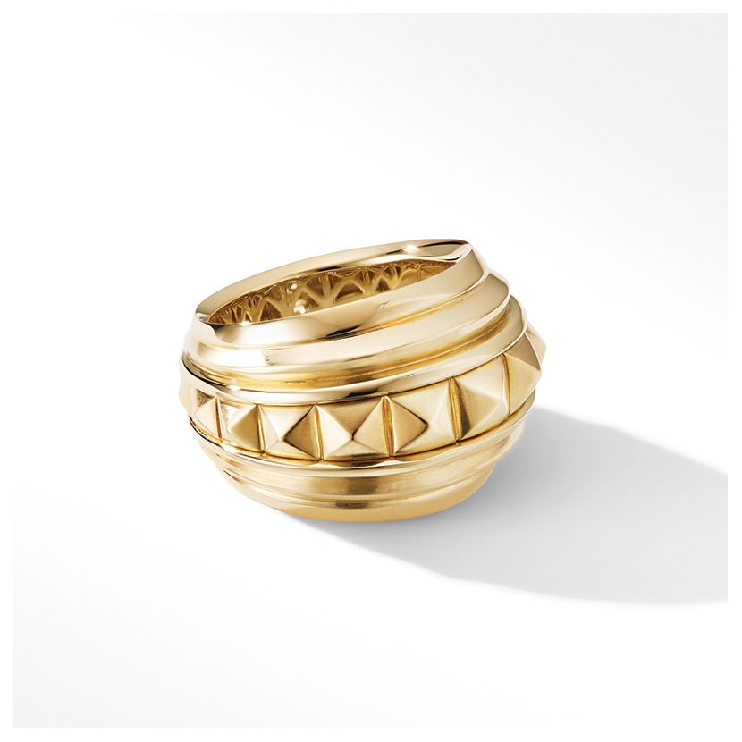 Modern Renaissance Pyramid Eternity Ring in 18K Yellow Gold