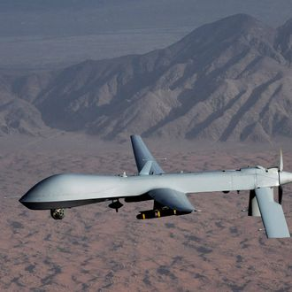 Undated handout image courtesy of the U.S. Air Force shows a MQ-1 Predator unmanned aircraft. The U.S. government has authorized the killing of American citizens as part of its controversial drone campaign against al Qaeda even without intelligence that such Americans are actively plotting to attack a U.S. target, according to a Justice Department memo.