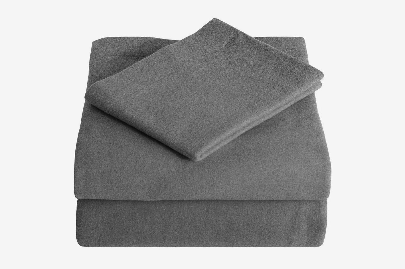 ab7838d9337e Bare Home 100% Cotton Velvet Heavyweight Double Brushed Flannel Sheet Set  (Queen)