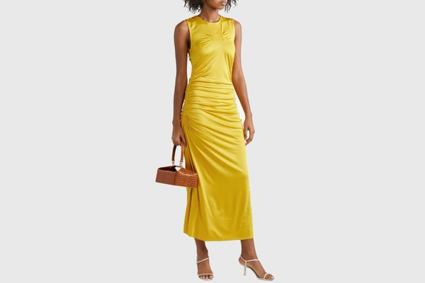 By Malene Birger Cutout ruched stretch-jersey midi dress