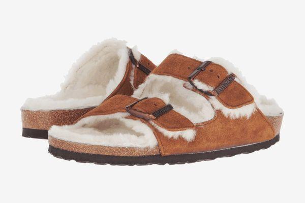 Birkenstock Arizona Shearling Mink Suede