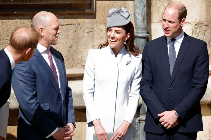 Prince Harry, Mike Tindall, Kate Middleton, and Prince William.