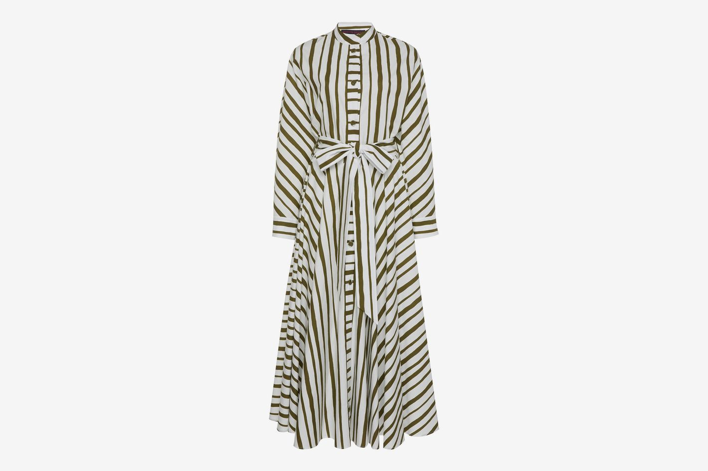 Martin Grant Striped Cotton Dress